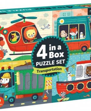 4 in a Box - puzzel 4-6-9-12 stuks - Mudpuppy 355385