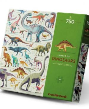 World of Dinosaurs - puzzel 750 stuks - Crocodile Creek 3876200