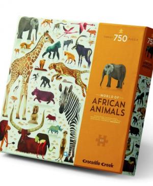 World of African Animals - puzzel 750 stuks - Crocodile Creek 3876202