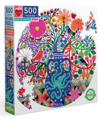 Birds and flowers – puzzel 500 stuks – eeBoo 1233