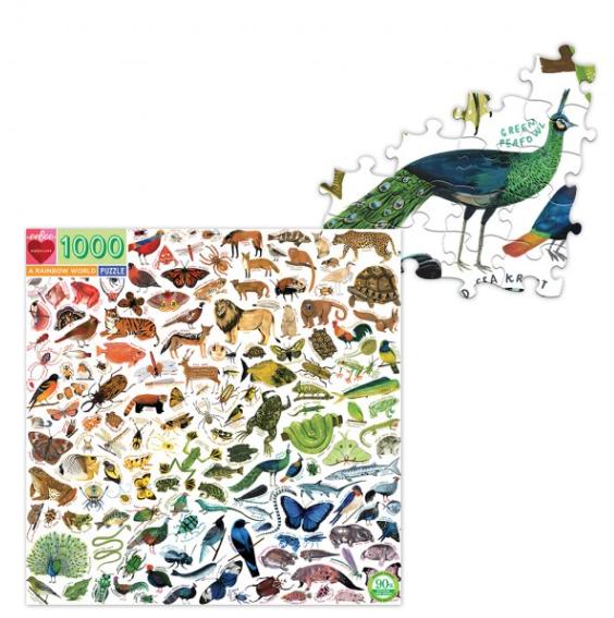 A Rainbow world – puzzel 1000 stuks – eeBoo 9971