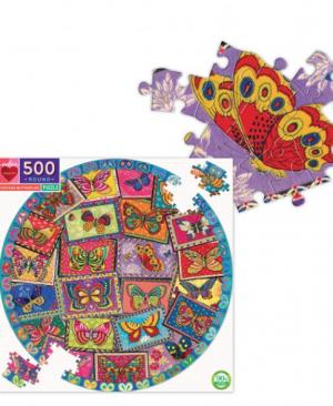 Vintage butterflies - puzzel 500 stuks - eeBoo 10021