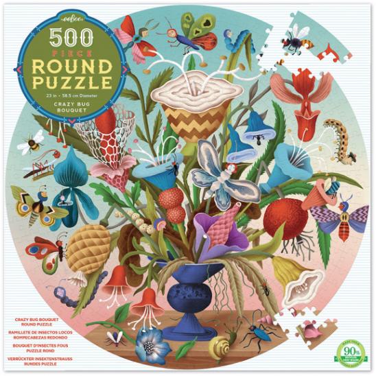 Crazy bug bouquet – puzzel 500 stuks – eeBoo 7670