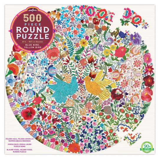Bleu bird Yellow bird – puzzel 500 stuks – eeBoo 6901