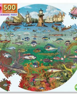 Fish & boats - puzzel 500 stuks - eeBoo 9278