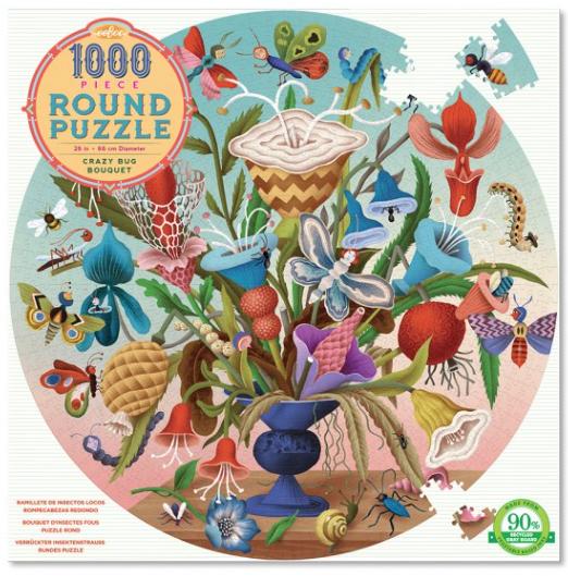 Crazy bug bouquet – puzzel 1000 stuks – eeBoo 7670