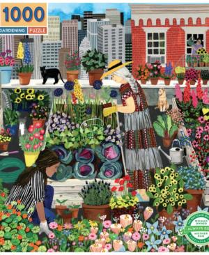 Urban Gardening - puzzel 1000 stuks - eeBoo 10458