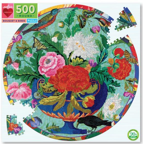 Bouquet & Birds – puzzel  500 stuks – eeBoo 9230