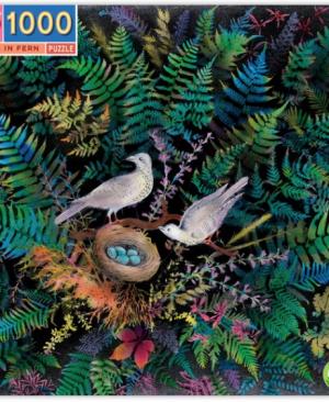 Birds in fern - puzzel 1000 stuks - eeBoo 9261