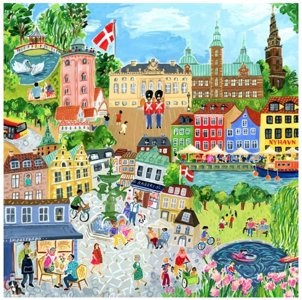 Copenhagen – puzzel 1000 stuks – eeBoo 878