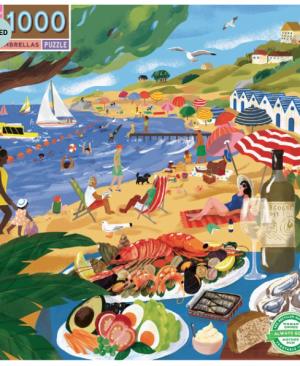 Beach umbrellas - puzzel 1000 stuks - eeBoo 1066