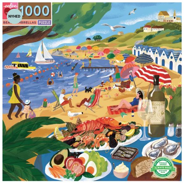 Beach umbrellas – puzzel 1000 stuks – eeBoo 1066