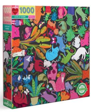 Cats at work - puzzel 1000 stuks - eeBoo 6512