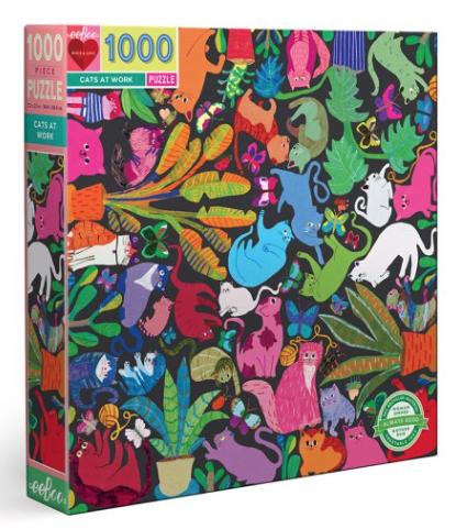 Cats at work  – puzzel 1000 stuks – eeBoo 6512