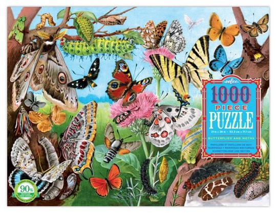 Butterflies and Moths  – puzzel 1000 stuks – eeBoo 8400