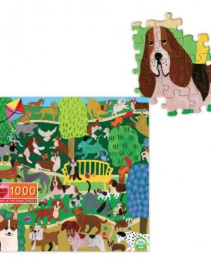Dogs in the park - puzzel 1000 stuks - eeBoo 9292
