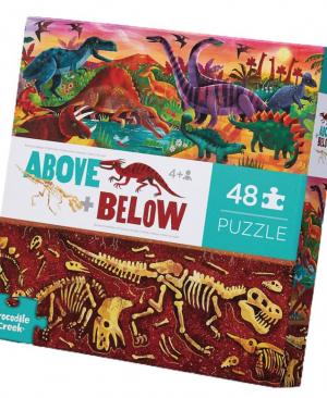 Above en Below Dinosaur World - puzzel 48 stuks - Crocodile Creek 3876004