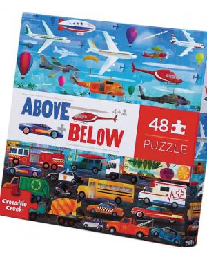 Above en Below things that Go - puzzel 48 stuks - Crocodile Creek 3876003