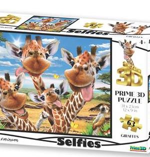 Giraffen selfie - puzzel 63 stuks - DAM 767