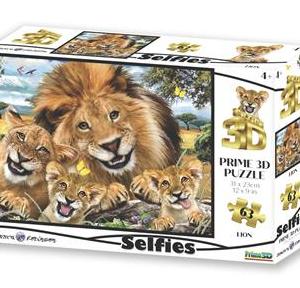 Selfie leeuwen - puzzel 63 stuks - DAM 698