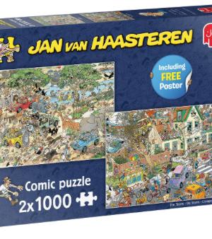 Safari & storm - puzzel 2x1000 stuks - Jan van Haasteren