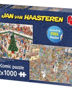 Black Friday & Christmas mall - puzzel 2x1000 stuks - Jan van Haasteren