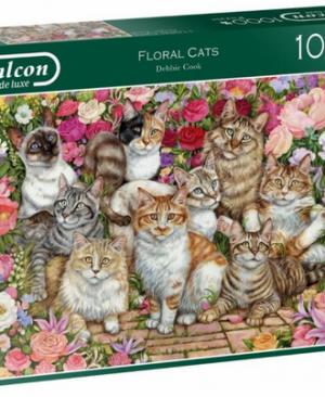 Floral cats - puzzel 1000 stuks - Falcon