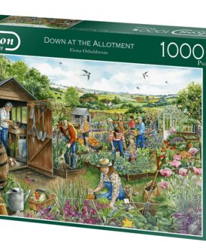 Down at the allotment - puzzel 1000 stuks - Falcon