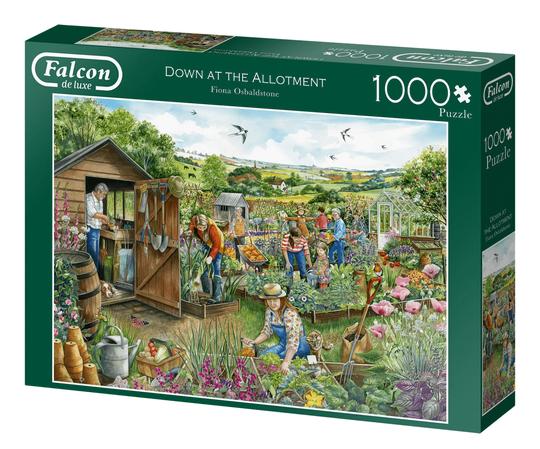 Down at the allotment – puzzel 1000 stuks – Falcon