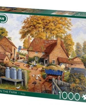 Autumn on the farm - puzzel 1000 stuks - Falcon