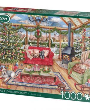 Christmas Conservatory - puzzel 1000 stuks - Falcon