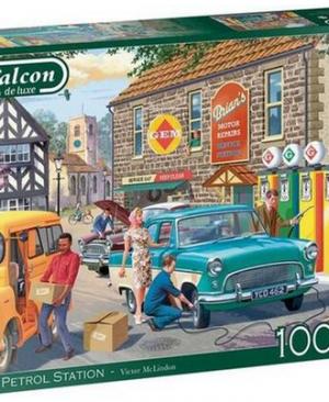 The petrol station - puzzel 1000 stuks - Falcon