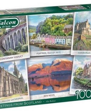 Greetings from Scotland - puzzel 1000 stuks - Falcon