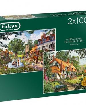 A beautiful summer's day - puzzel 2x1000 stuks - Falcon