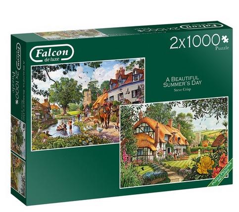 A beautiful summer's day – puzzel 2×1000 stuks – Falcon