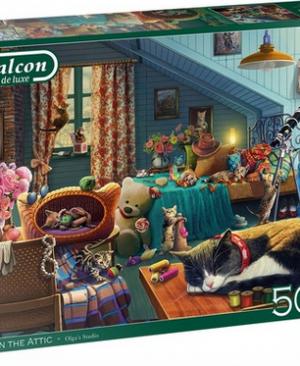 Cats in the attic - puzzel 500 stuks - Falcon