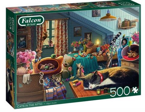 Cats in the attic – puzzel 500 stuks – Falcon