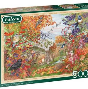 Autumn Hedgerow - puzzel 500 stuks - Falcon