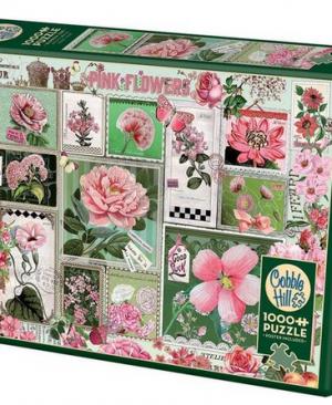Pink Flowers - puzzel 1000 stuks - Cobble Hill