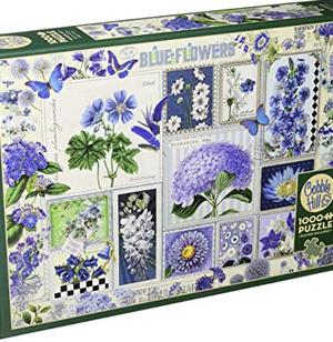 Blue Flowers - puzzel 1000 stuks - Cobble Hill
