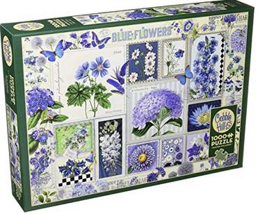 Blue Flowers – puzzel 1000 stuks – Cobble Hill