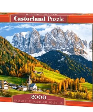 Church of st magdalena dolomites - puzzel 2000 stuks - Castorland