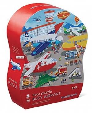 Busy airport - floor puzzel 36 stuks - Crocodile Creek 764