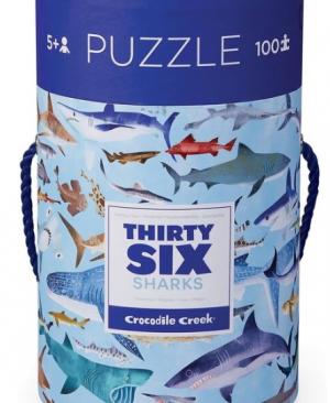 Shark World - leer de dieren kennen 100 stuks - Crocodile Creek 548