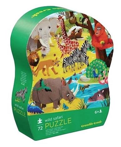 Wild safari – puzzel 72 stuks – Crocodile Creek 179