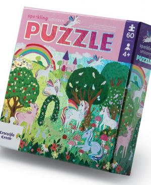 Sparkling unicorn - puzzel 60 stuks - Crocodile Creek 053