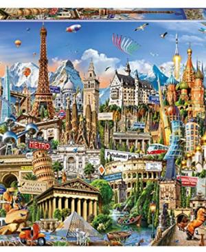 Bekende plekken in Europa - puzzel 2000 stuks - Educa 17697
