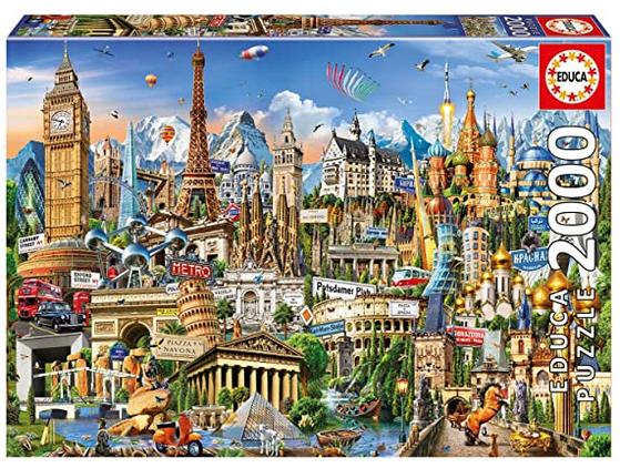 Bekende plekken in Europa – puzzel 2000 stuks – Educa 17697