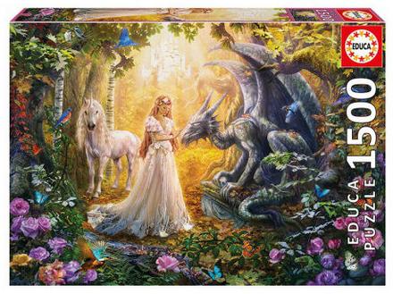 Draak, Prinses en Eenhoorn – puzzel 1500 stuks – Educa 17696