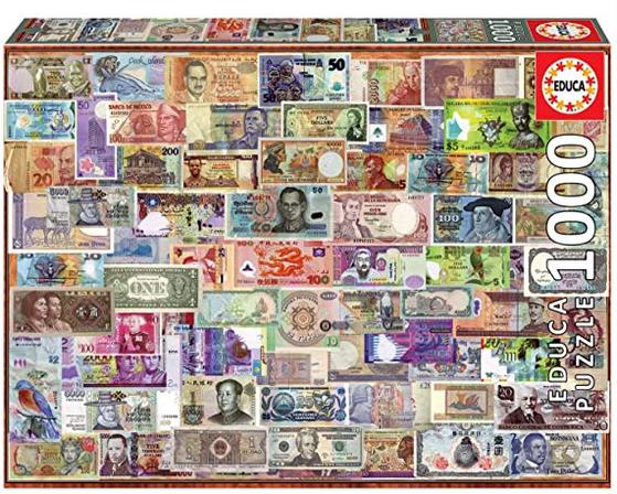 Bankbiljetten van over de Wereld – puzzel 1000 stuks – Educa 17659